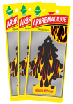 Lot 3 Désodorisants ARBRE MAGIQUE Citrus Flames